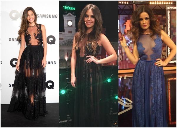 Algunos rostros famosos se han apuntado a los vestidos ibicencos de noche