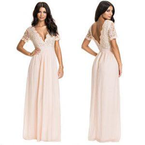 vestido de novia ibicenco elegante
